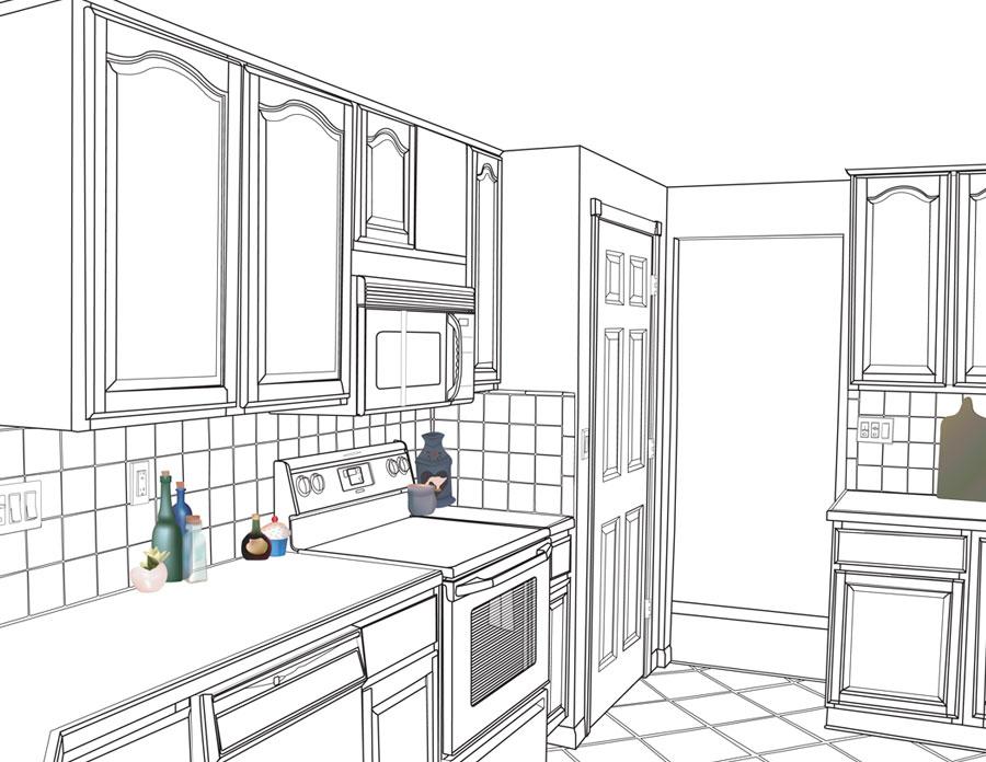Kitchen Illustration Laura Giuliari