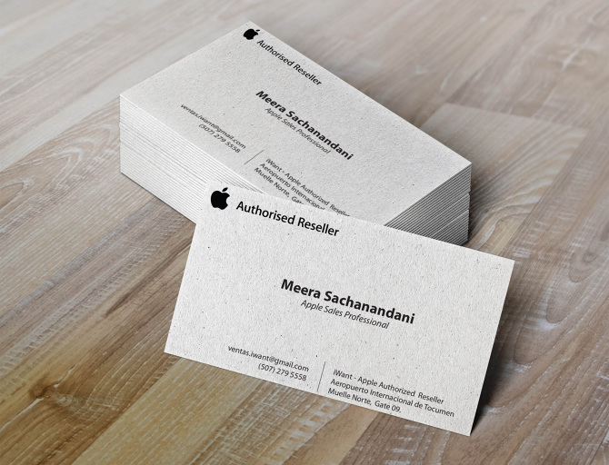 Apple Business Card images